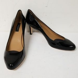 Ann Taylor Black Slip On Pumps Heels Size 8.5